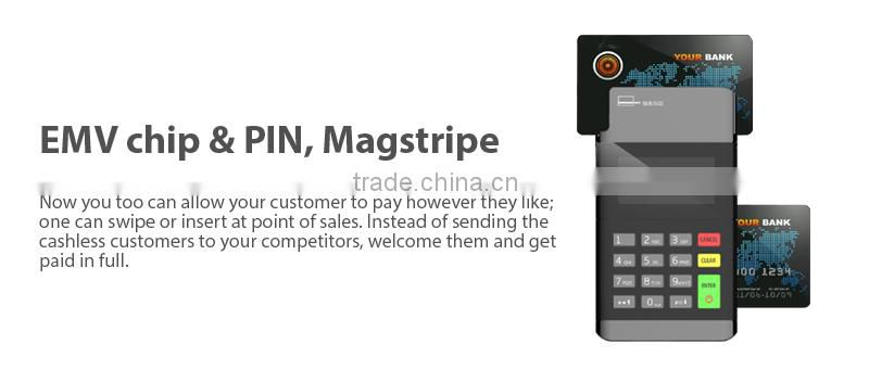 EMV Mobile POS pci certified mobile card reader Magnetic stripe NFC for IOS Android
