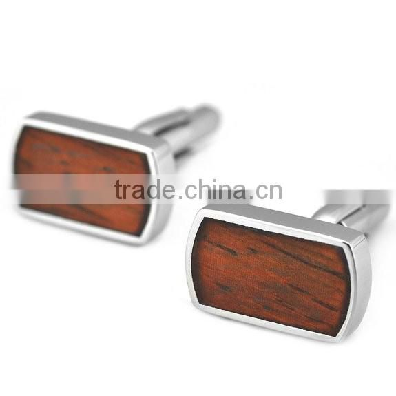 manufacturer oem high end cuff links stainless steel cufflink simple silver plated quadrate cuff links for men