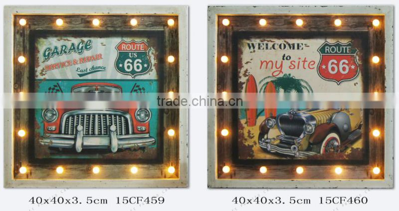 LED car LED pictures LED wall decor Modern Wall Art living room decoration LED family design