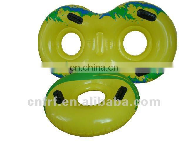 inflatable double pool floating water tube