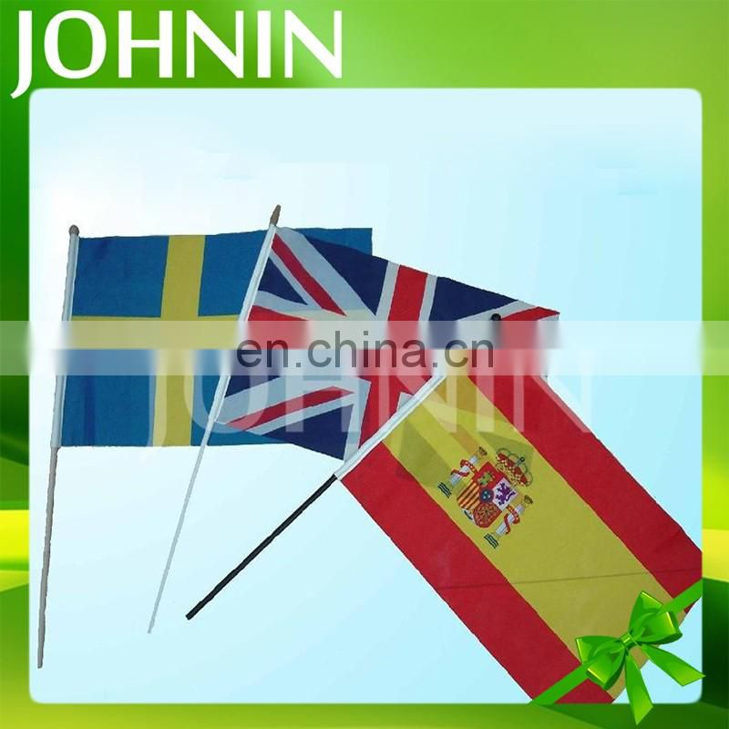 wholesale promotion World Cup all countries mini hand held stick flag