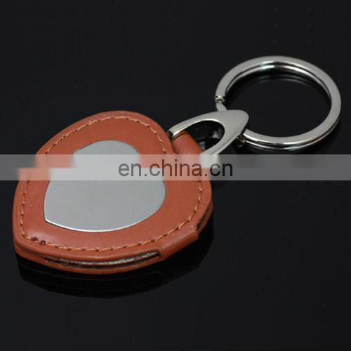 Custom handmade keychain leather keyring with logo