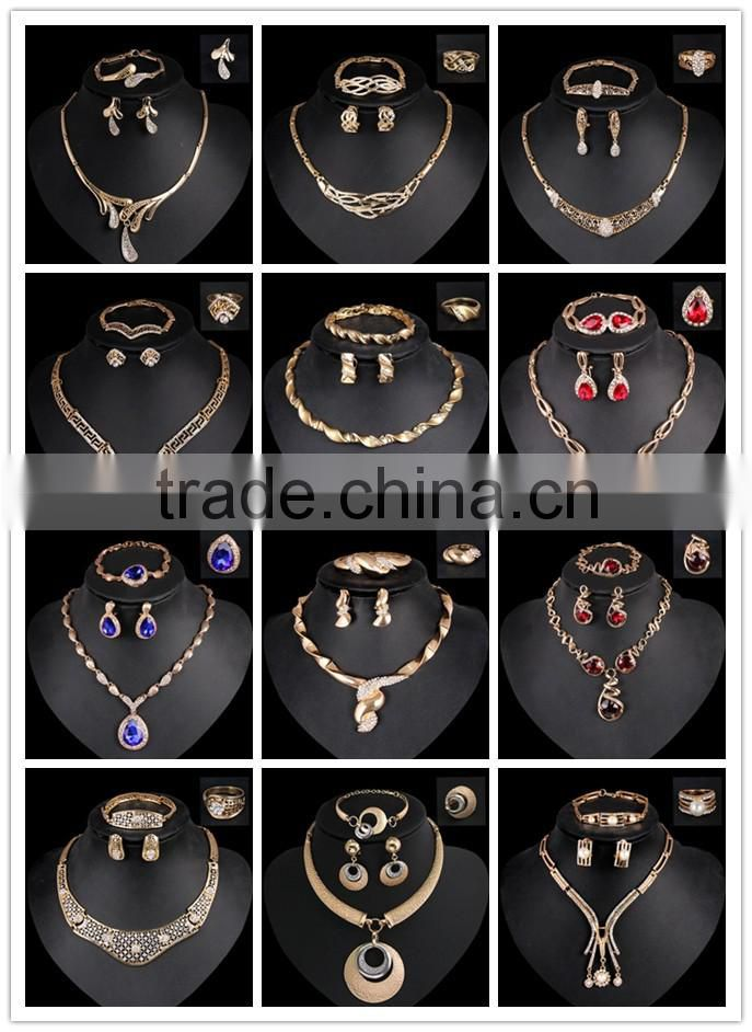 Jewelry Sets For Women Fine Accessories Wedding Bridal Pendant Statement CZ Diamond Necklace Earrings Bracelets Rings Sets