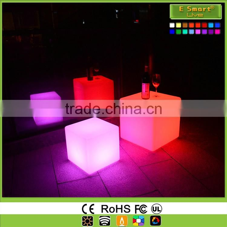 Colorful light up cube chair&led cube