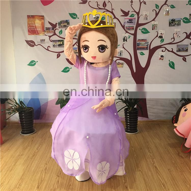100% handmade hot sale customized the beauty and beast mascot costume for adults