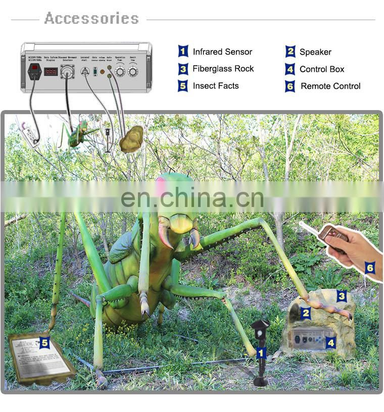 Amusement park large robot dragonfly model for sale