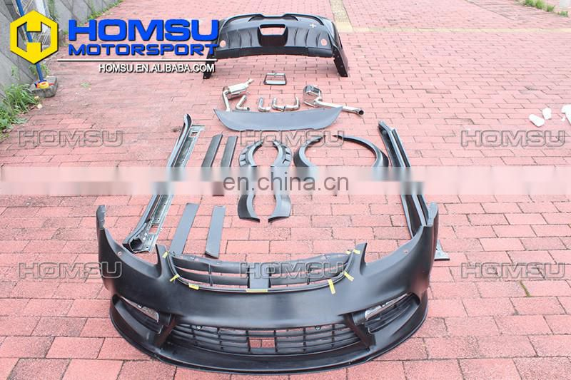 Auto parts MS design style carbon fiber / fiber glass front bumper body kit for porsch-e panamera 970 2010-2013