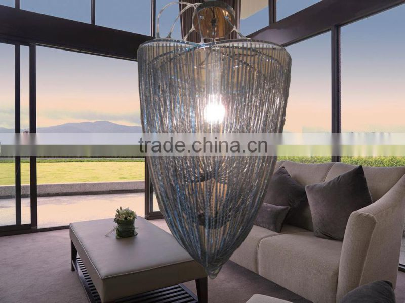 Chain pendant lamp and decorative hotel/home,New design chandelier for wholesale metal chandelier light