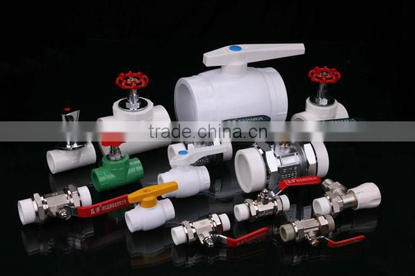 all plastic ball valve with steel ball fitting Imported raw materials andSpecifications ppr pipe fitting,all pp