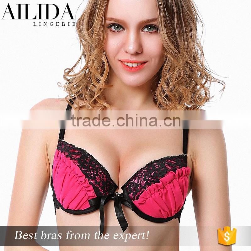 3e1c1cb1d57 Ailida Top Quality Fantasy Sexy Women Front Open Bra with Cross Back Design  ...