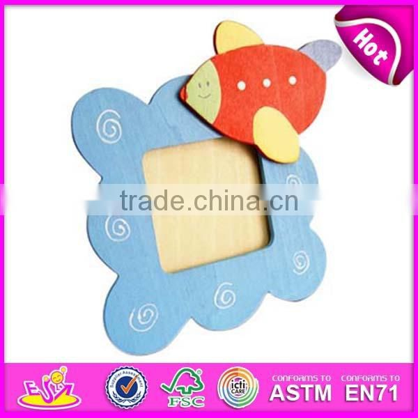 New wood photo album for kids,popular wood crafts for children,hot sale baby wall photo frame toy WJ278293
