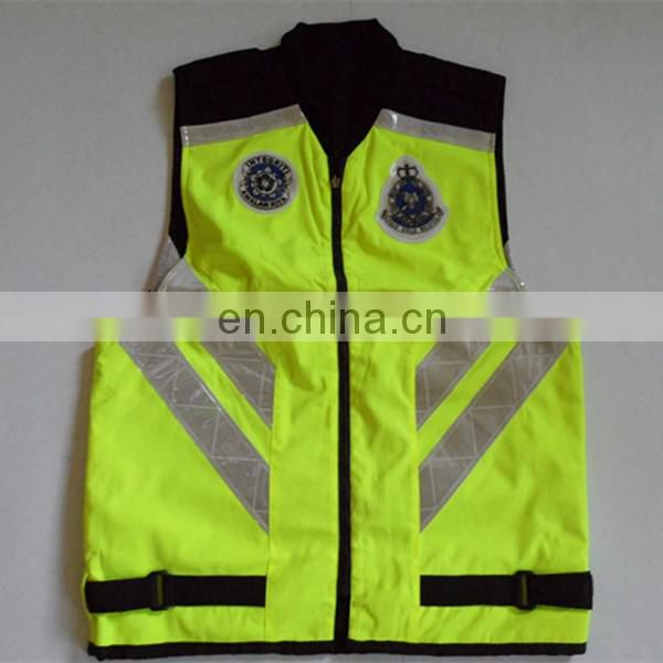 High quality OEM design sleeveless reflective security jacket