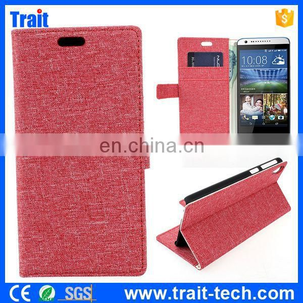 Cloth Pattern Flip Wallet Cover Case for HTC Desire 820 D820u