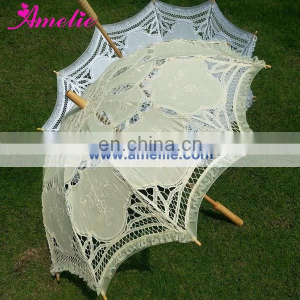 Battenburg Lace parasol wedding favour