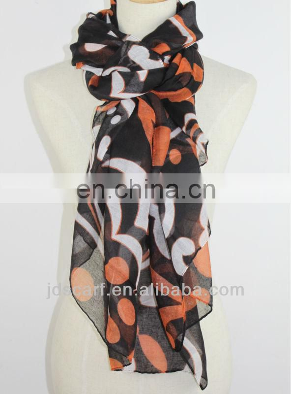 horse print scarf JDY-140# printed promotion fleece scarf
