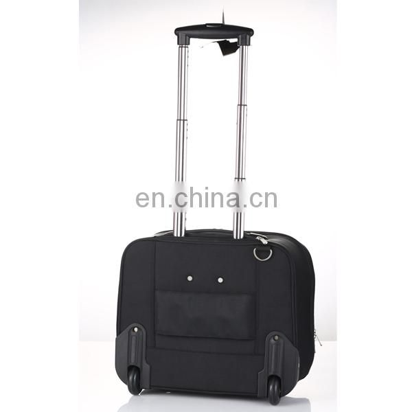 black polyester trolley bag can with you own design