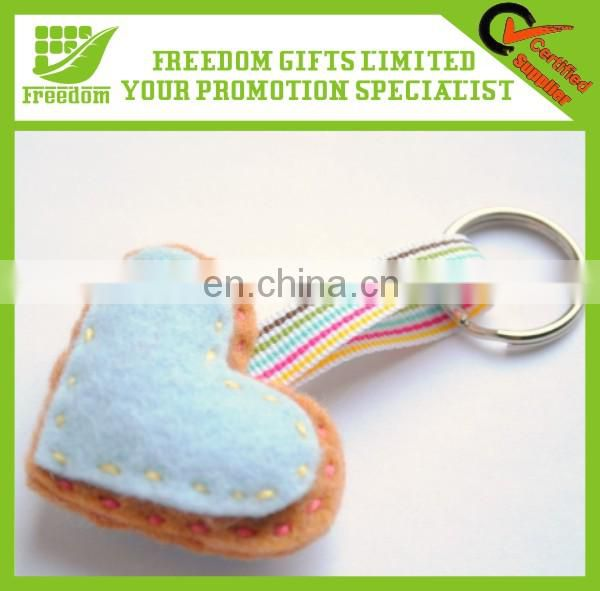 High Quality Promotional Gifts Printed Felt Keychain
