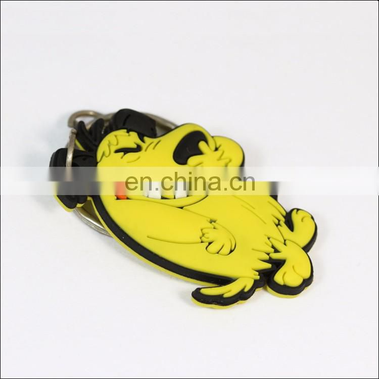 Custom metal metal keychain epoxy printed cartoon dog keyring wholesale