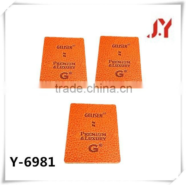 China Factory Hilti Price wholesale alibaba Backpack PU and denim embossed leather Patches