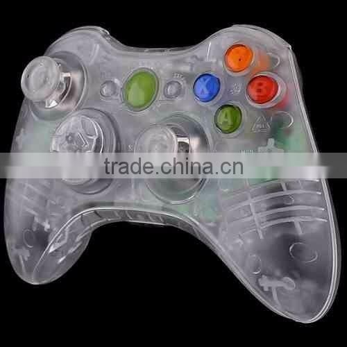 Clear Full Housing Shell Case Cover + Buttons for Xbox 360 Wireless Controller Clear cover case full shell
