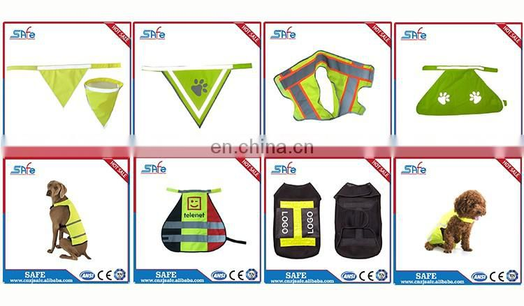 100% polyester cycling reflective service dog high visibility weight vest