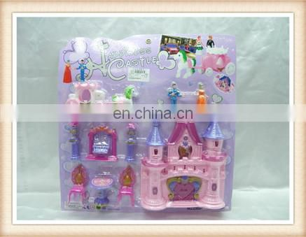hot sell plastic castle toy ,plastic mini toy doll house furniture