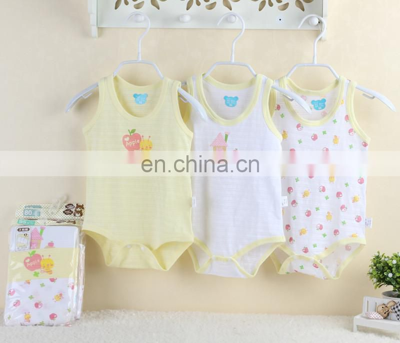 Elinfant 100%cotton sleeveless baby rompers newborn baby clothes