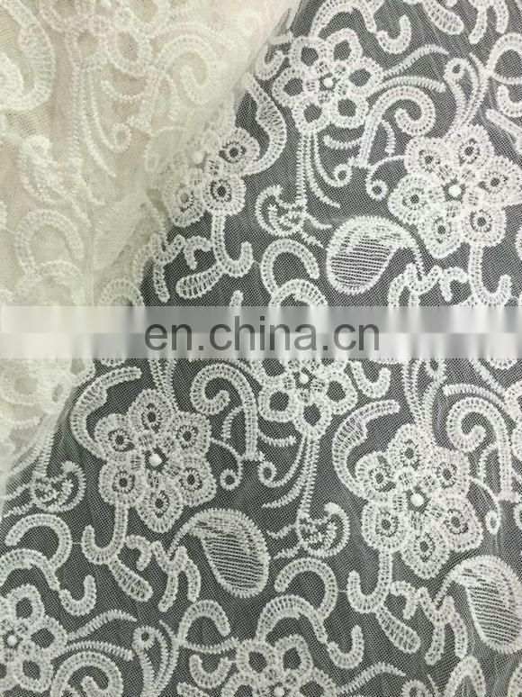 beautiful nylon mesh guipure lace fabric for lady's summer garment