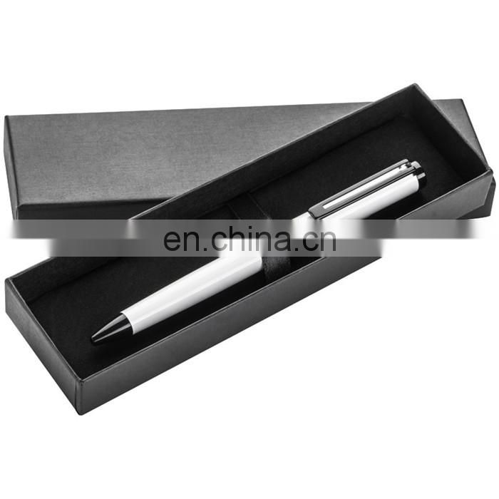 heavy twist gross white barrel metal ball pen with gift box RB17092