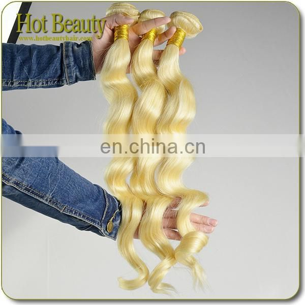 100% Remy Unprocessed Tangle And Shedding Free Russian Blonde Human Hair Weave strawberry blonde weaves