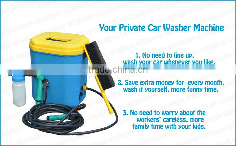 (84773) 15L portable car washing, car battery operated folding car washer