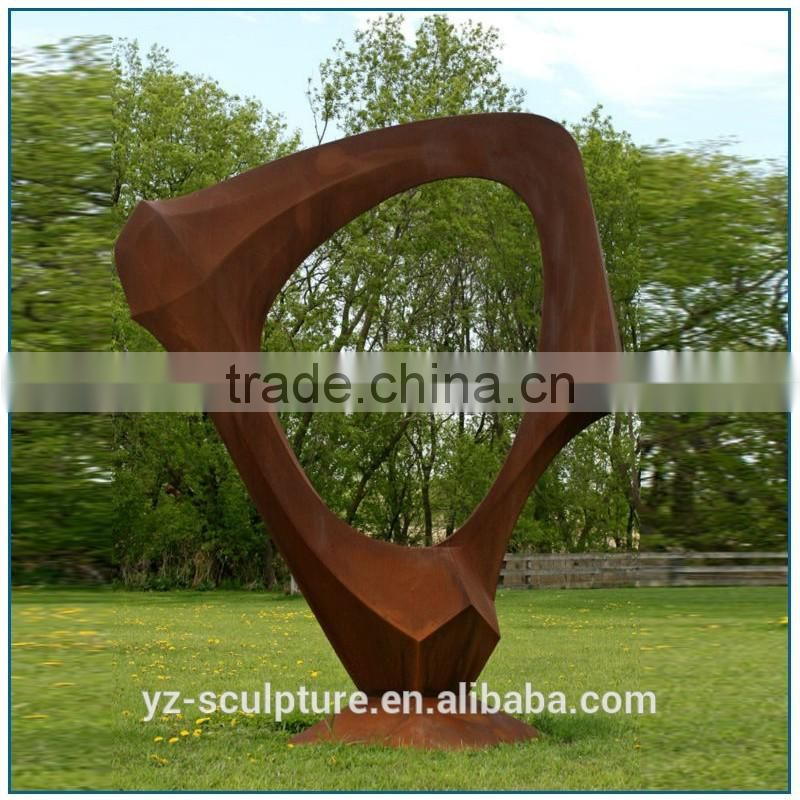 outdoor large size abstract corten steel sculpture for sale