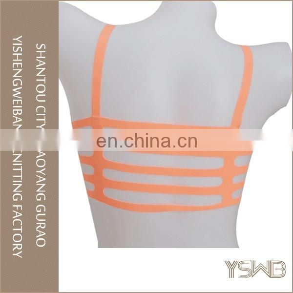 French style running trainning polyester fitness sport bra with breathable