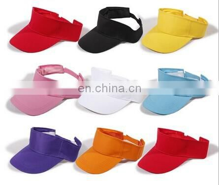 Hot sell new Plain Golf Tennis Sports Sun Visors Caps