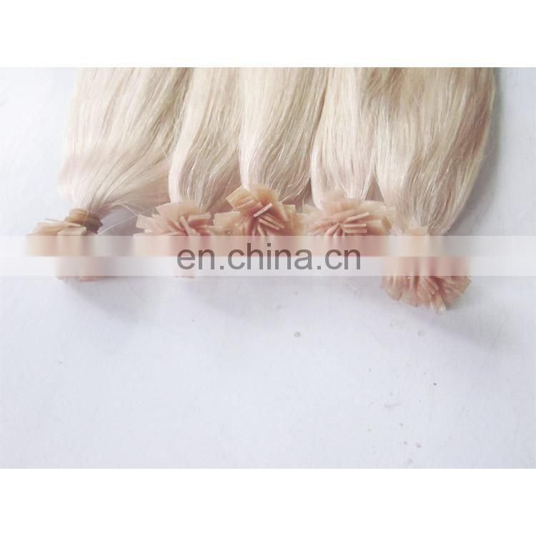Blonde Color #613 Russia Remy Flat tip Hair Extension