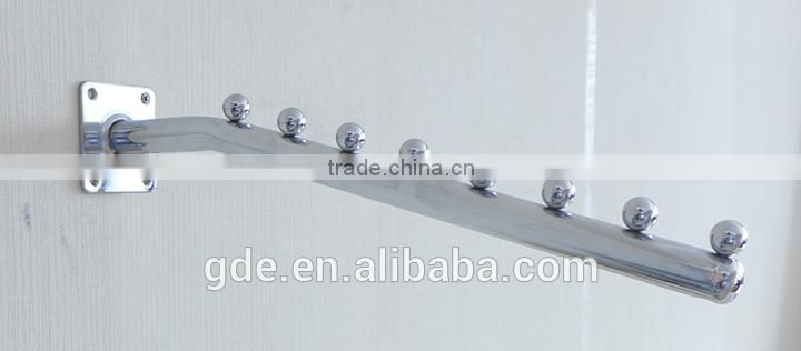 Metal wall-mounted bra display hook with 7 beads
