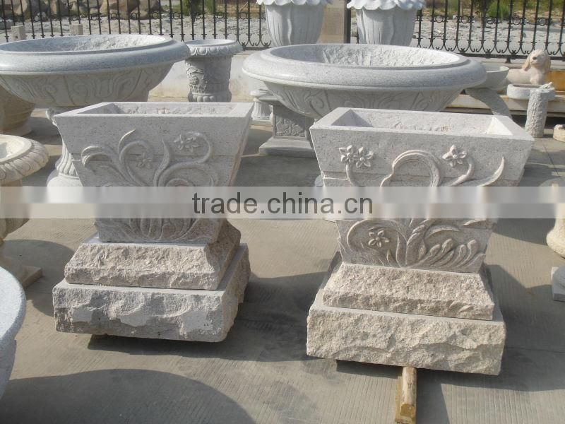 Chinese yellow granite G682 flower pot