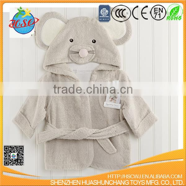 customized cotton towel aniimal shape baby bathrobe