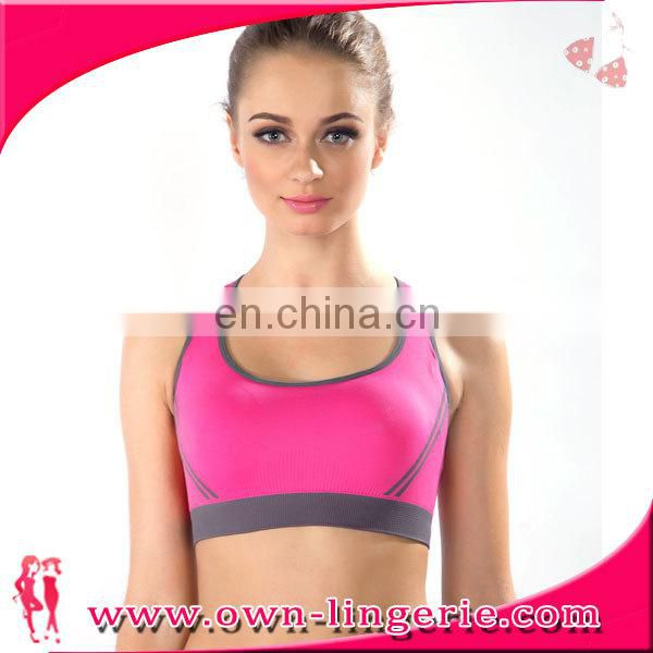 2015 new elegant beach wear sports gym bra top with removalbe padding