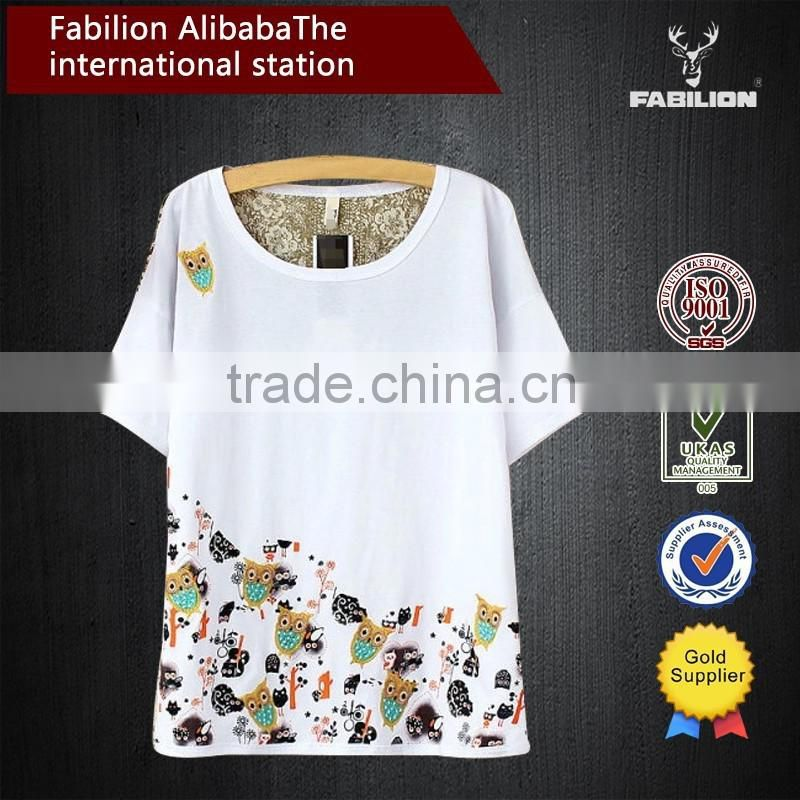 In the long wholesale women's clothing short sleeve T-shirt in the summer of women thin cotton t-shirt