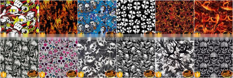 Good Value Dazzle Graphic Slim Cool Lace Skull Hydrographic Film No.DGJJ-769 Hot Sale New Design Water Transfer Printing Film