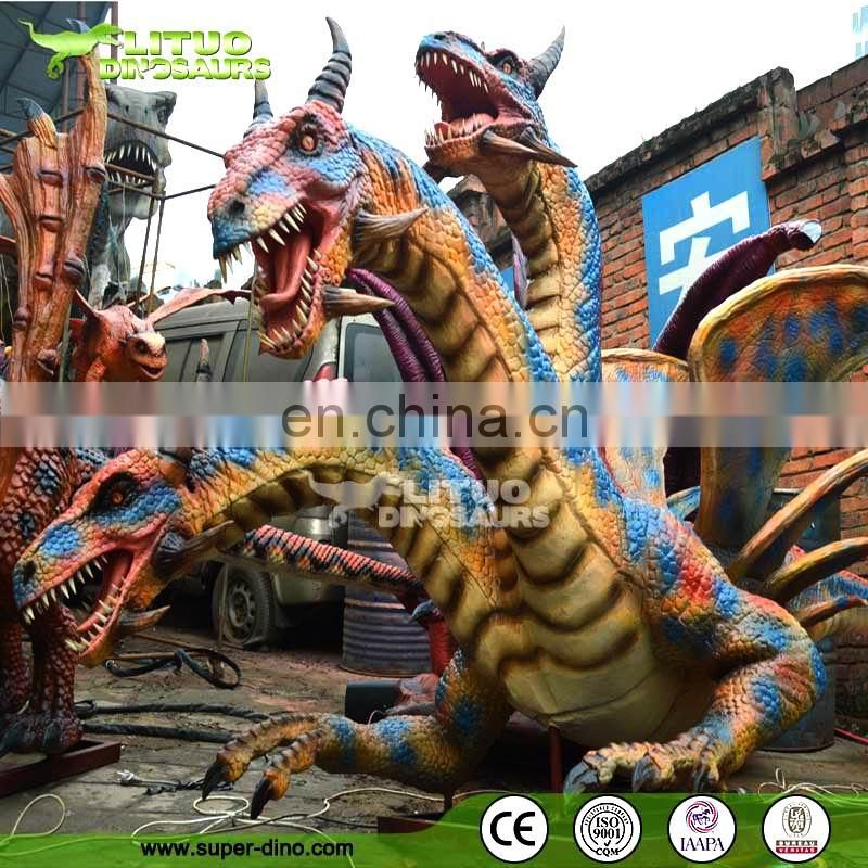 Animatronic Dragon Western Smoking Dragon For Theme Park