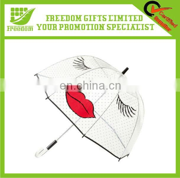 Promotional Printed Bubble PVC Clear Umbrella