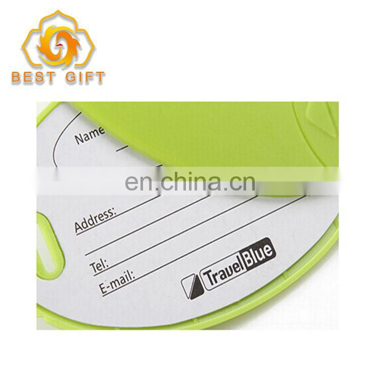 2018 Newest Design Candy Color Silicone Travel Luggage Tags