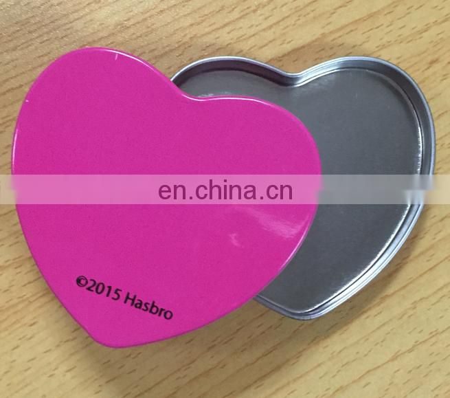 Mini heart shape tin box