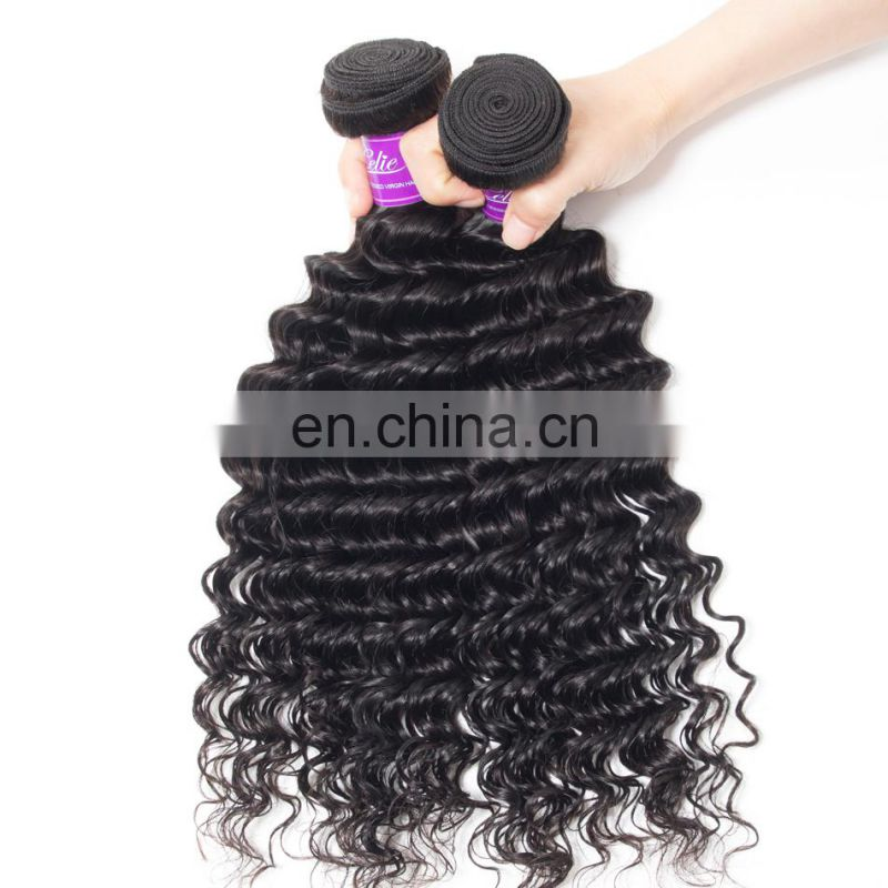 100 human hair deep wave indian hair weave