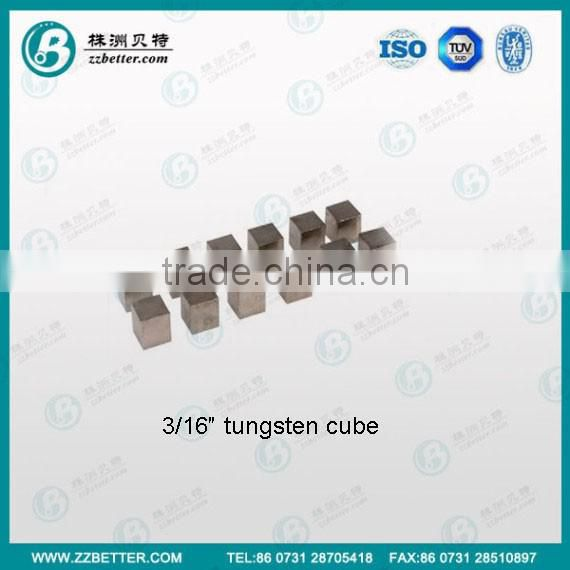 1/4 3/16 inch high density heavy alloy tungsten cube