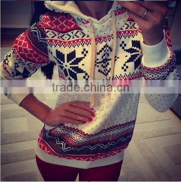 New Fashion Women's Hooded Pullover Tops Hoodie Sweatshirt Jumper Autumn Sweater