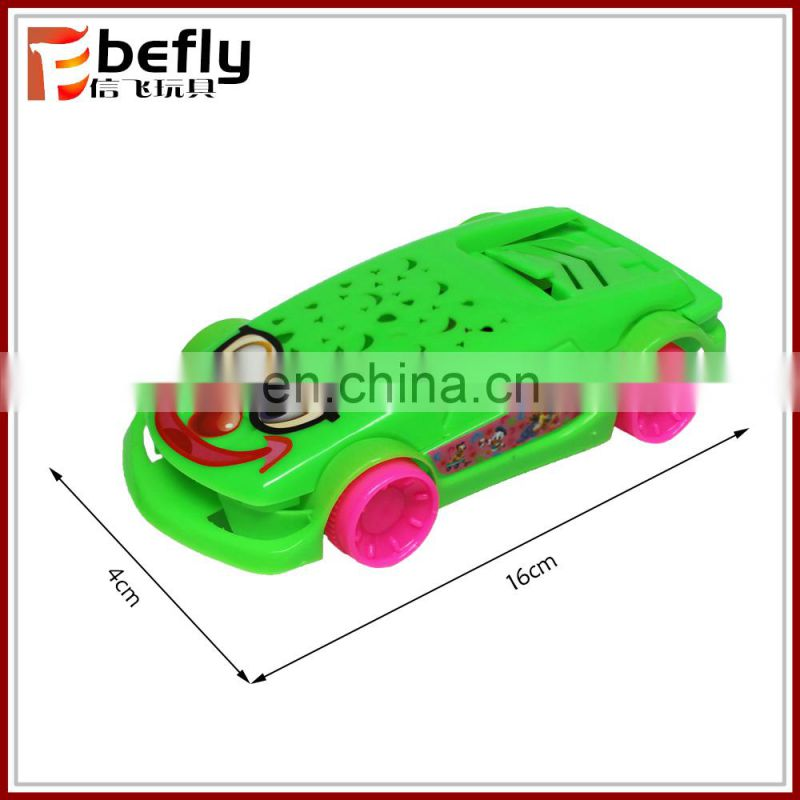 Colorful plastic pull back car for kids play