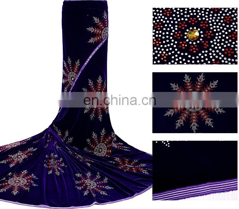 African high quality velvet lace fabric